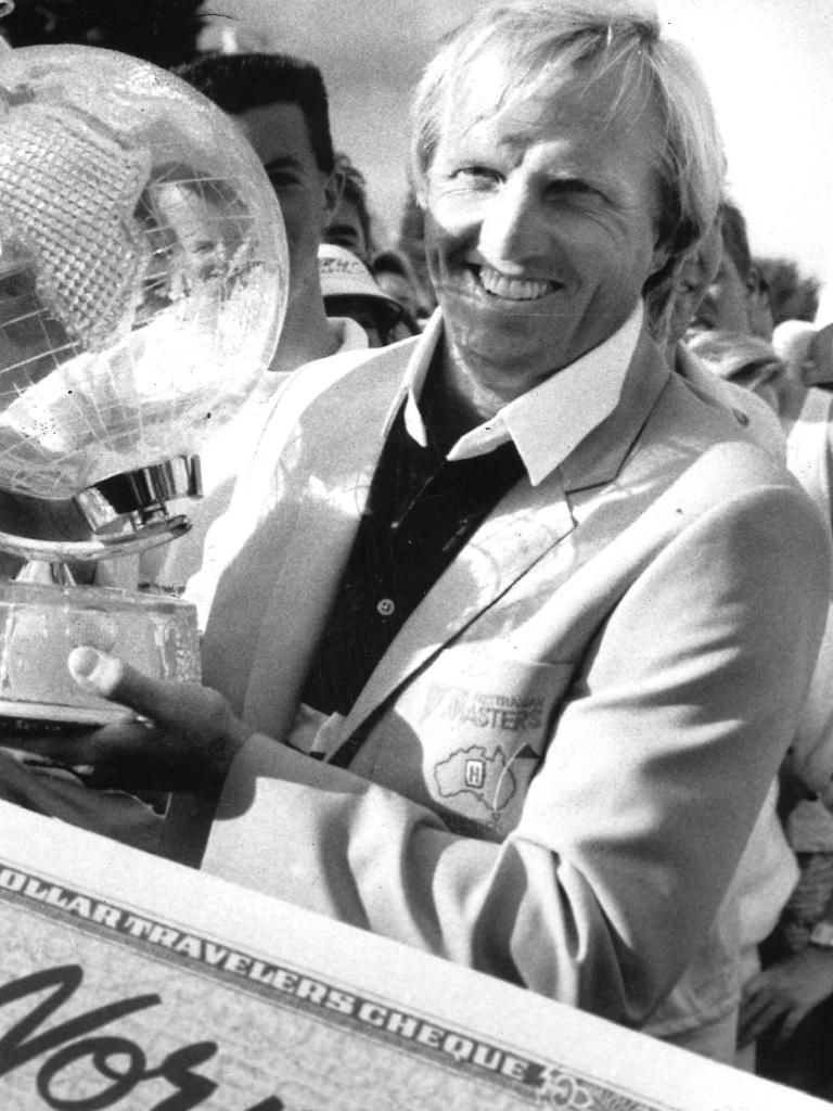 Greg Norman after his Australian Masters win in 1989.