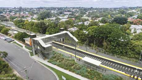 East Ipswich Train Station upgrade - aerial view artist's impression.