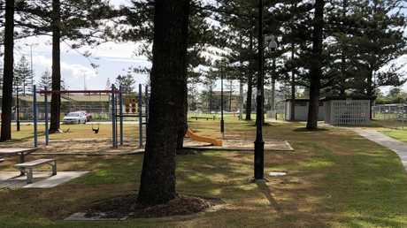 A Broadbeach park where the family would often sleep.