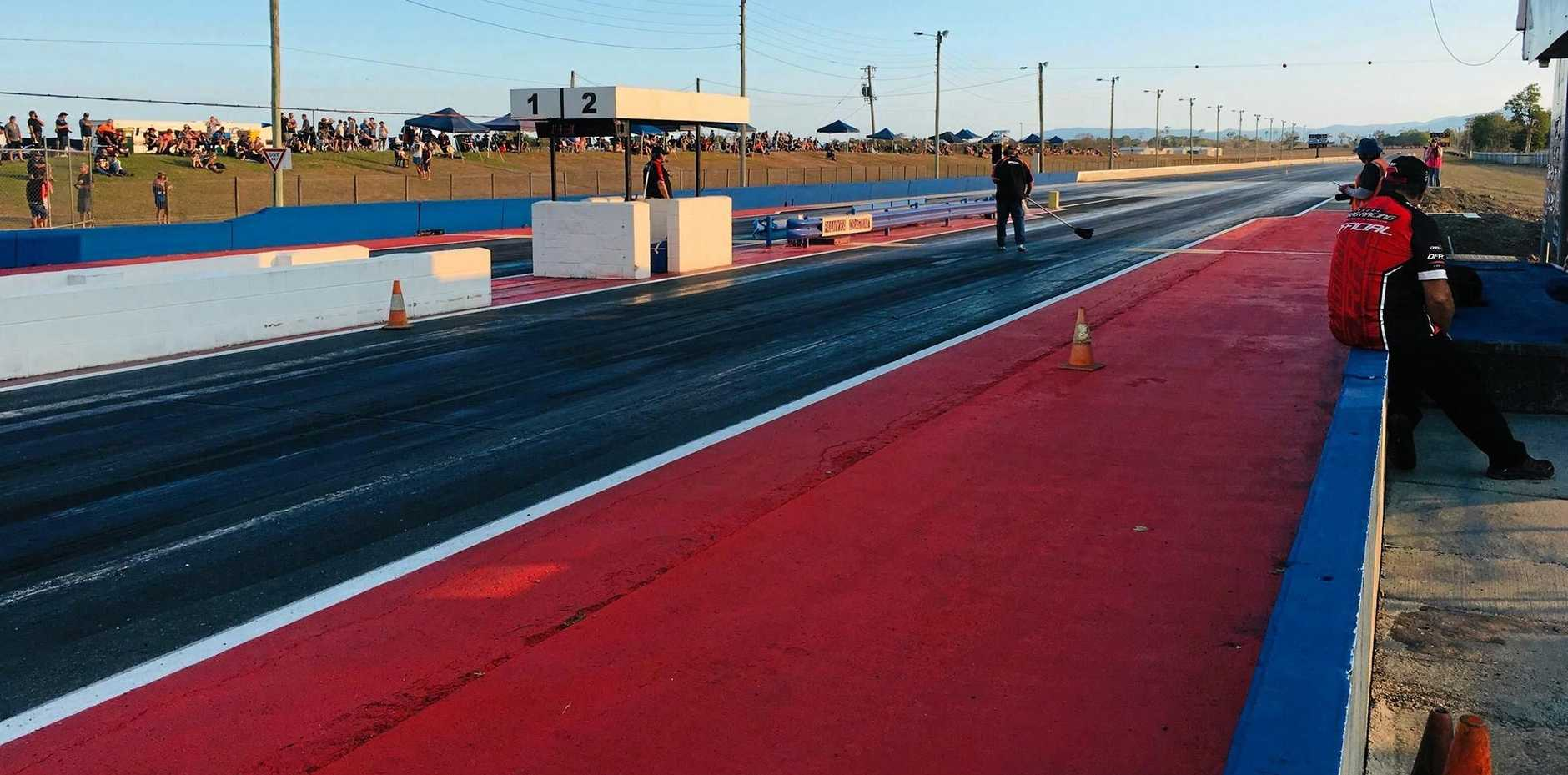 RE-OPENED: The newly refurbished Palmyra drag strip had its official reopening at the weekend.