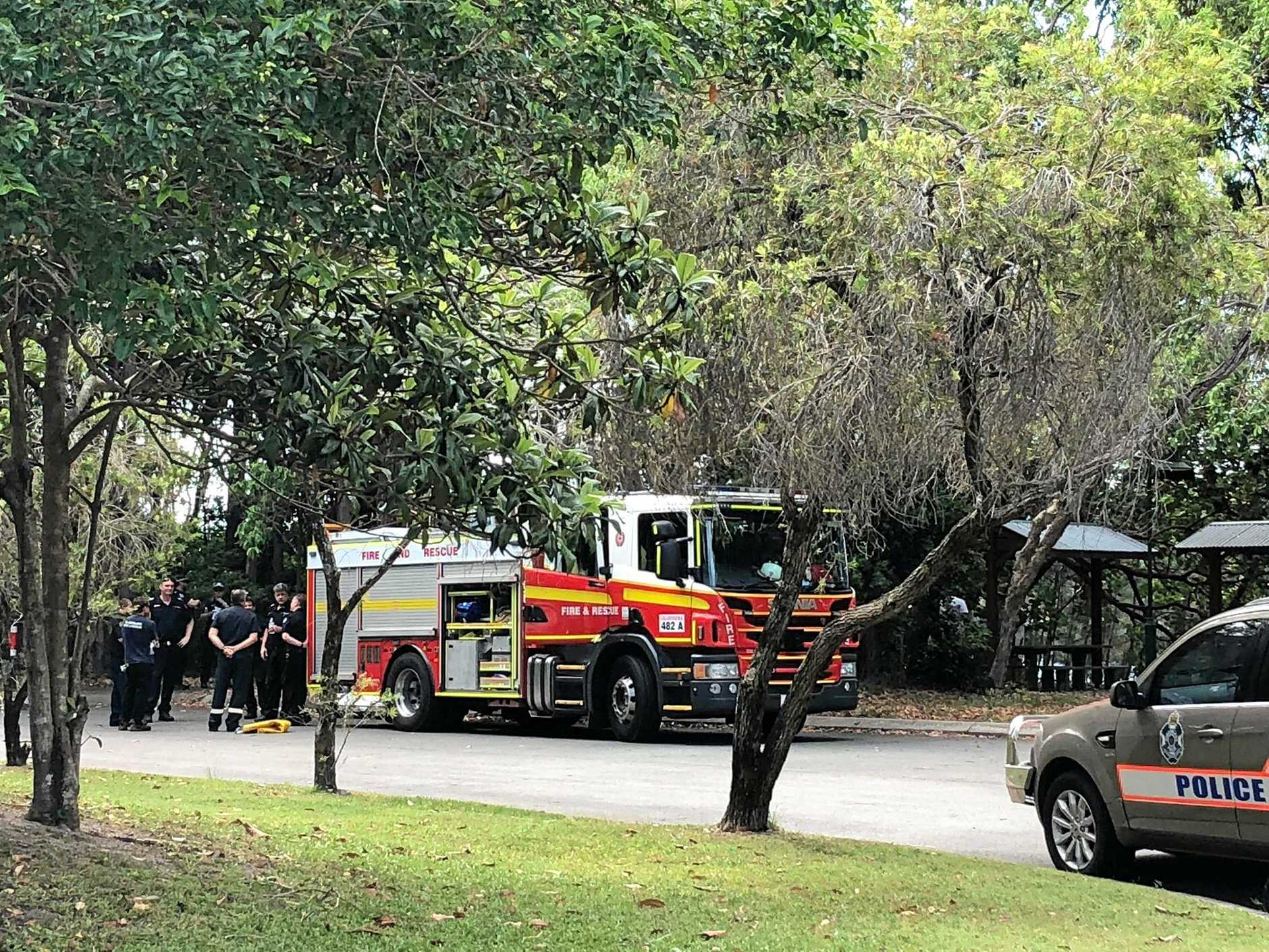 A man has died from an underlying health condition at Currimundi Lake.