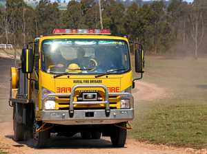 Fireys tangle with grass blaze in Gympie region's south