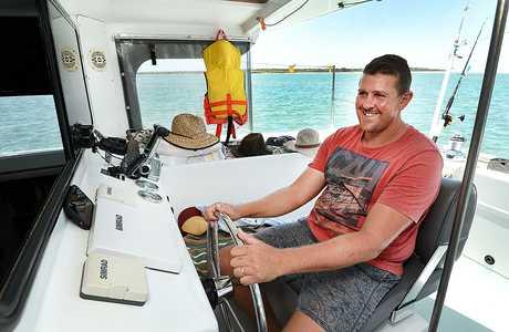 Ramsay Beacham takes the skipper's seat.