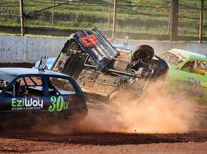 GALLERY: Hancey crowned as slick track causes chaos