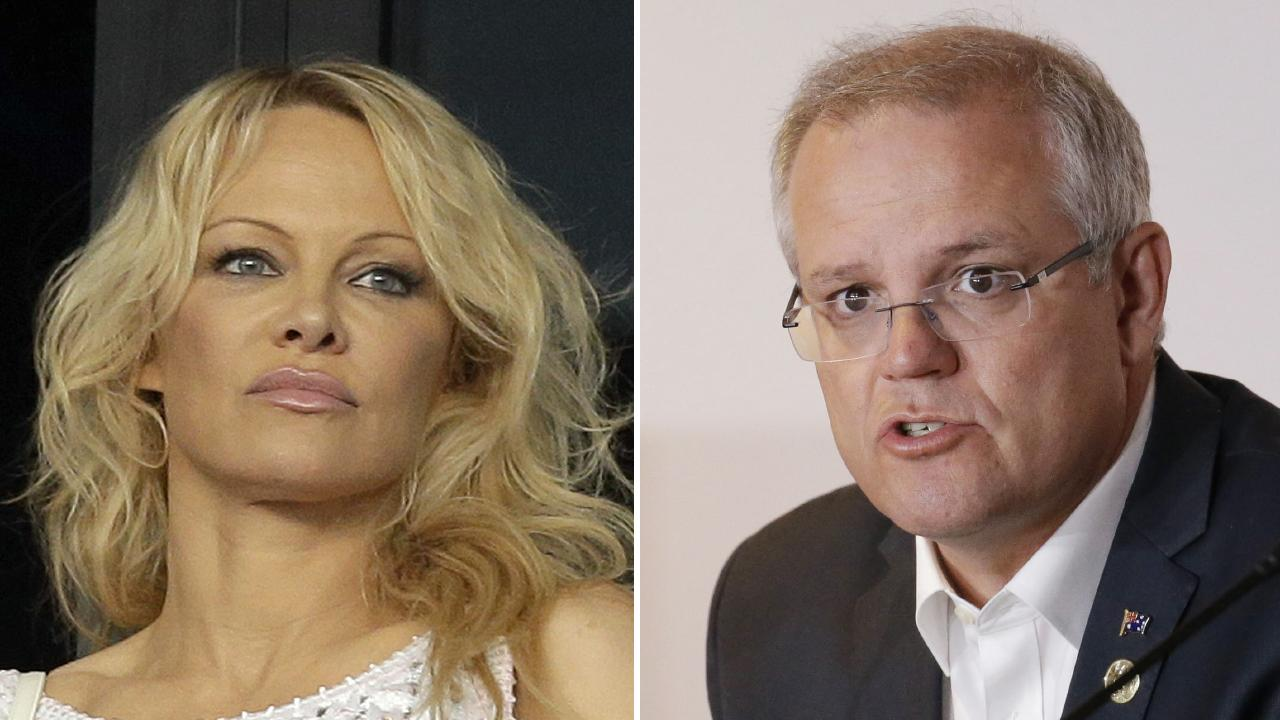 Actress Pamela Anderson has hit out again at ScoMo.