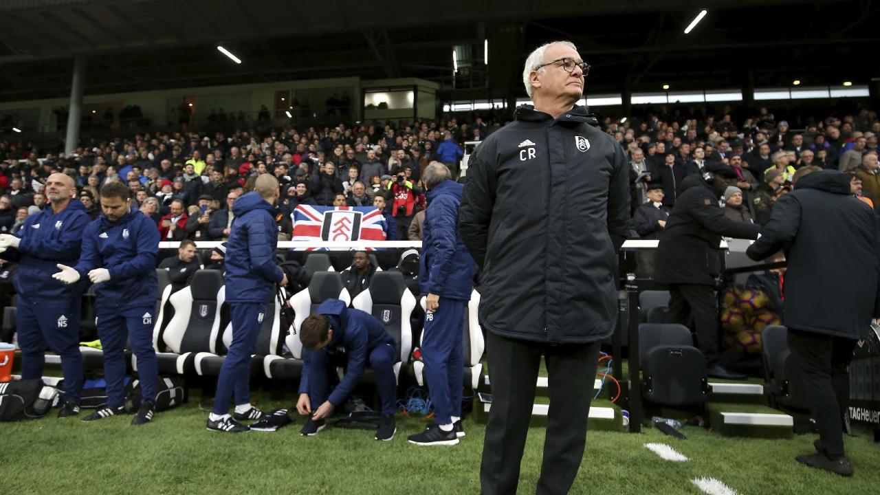 Fulham manager Claudio Ranieri looks on