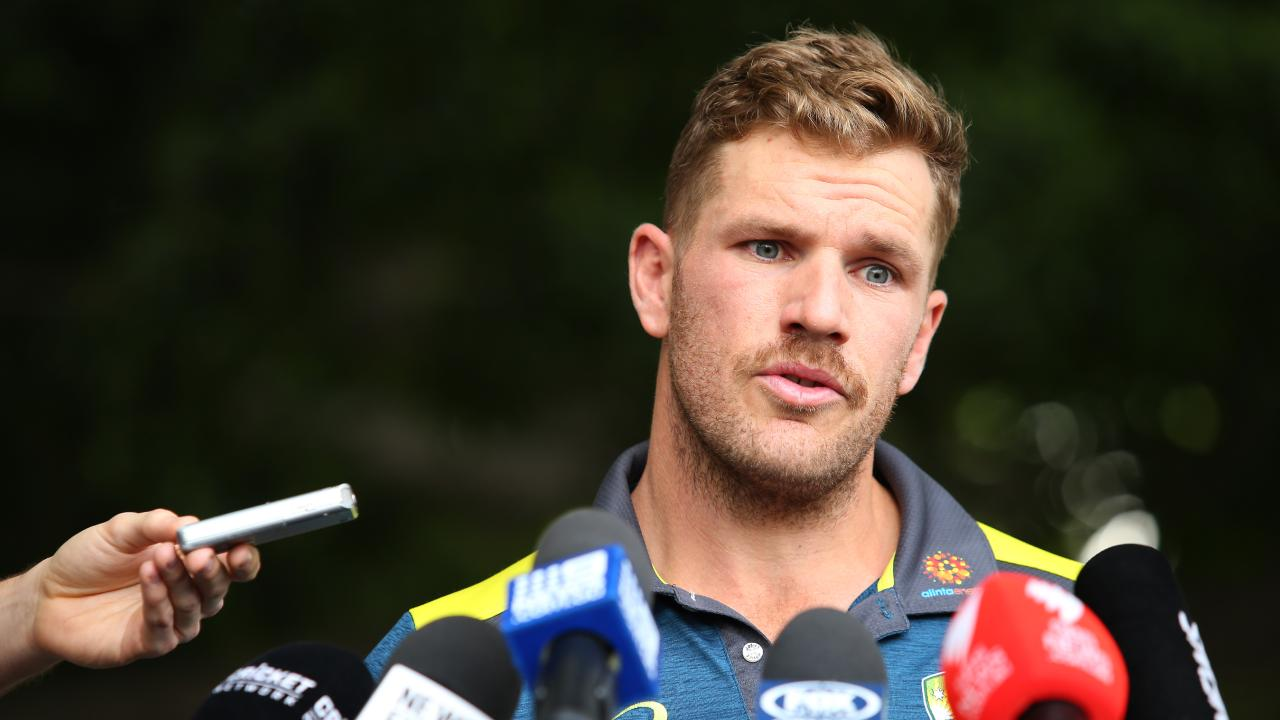 Aaron Finch will not open the batting for Victoria this week. Picture: Getty
