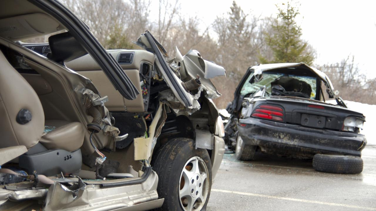 Damage to cars after major road accident. Picture: Thinkstock