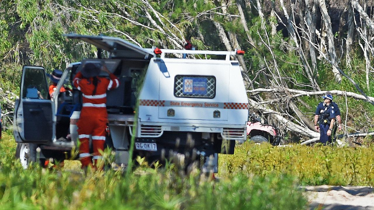 Townsville emergency services and locals search for a missing girl near Black River. Picture: Zak Simmonds