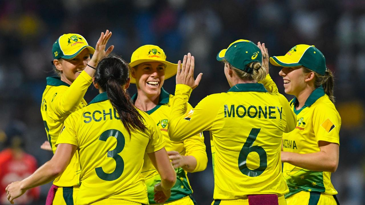 Australia claim their fourth World T20 title. (Photo by Randy Brooks / AFP)