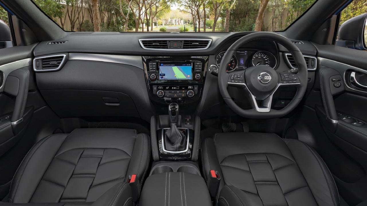 The Ti has a more premium feel to the cabin with soft touch surfaces and leather accents.