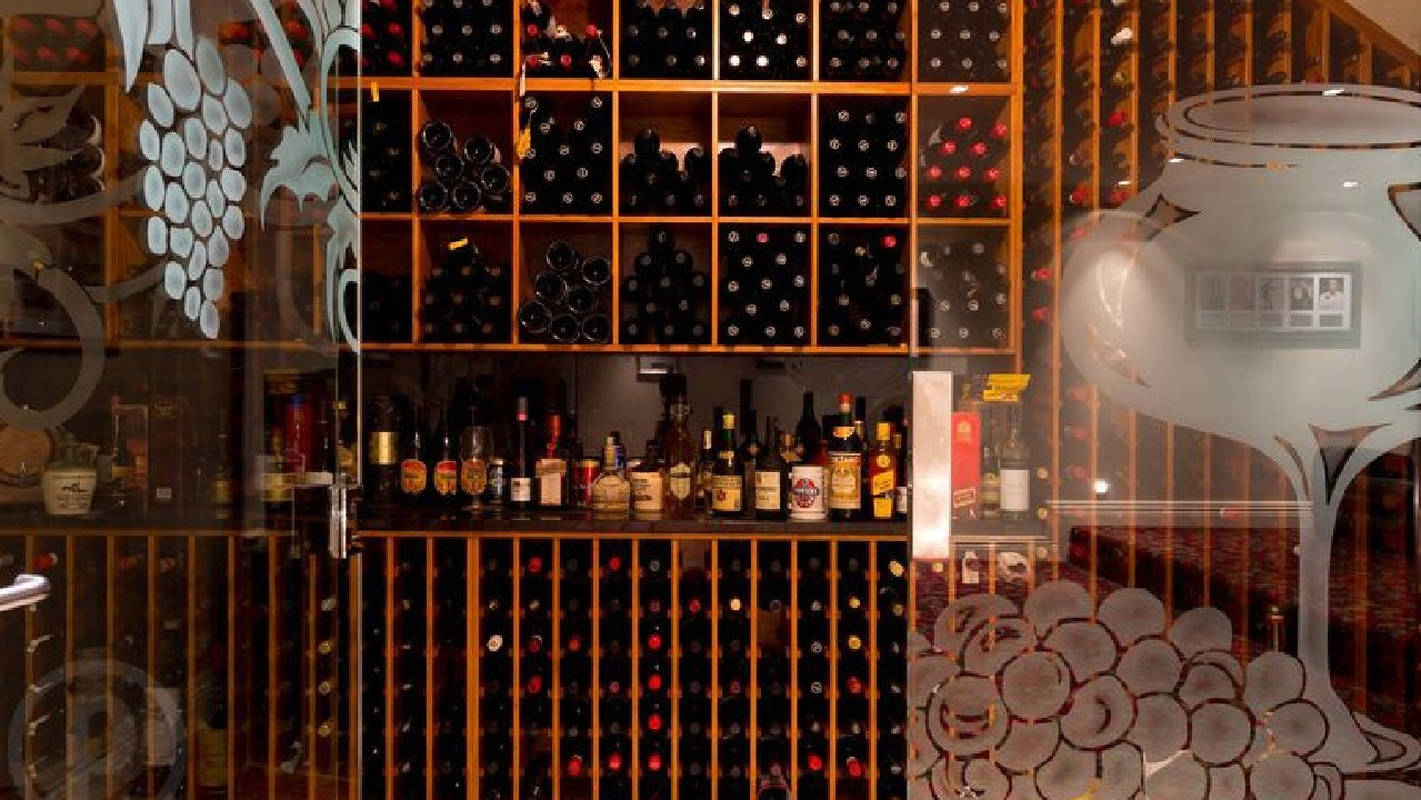 ... and it's wine cellar fit for a diplomatic soiree!