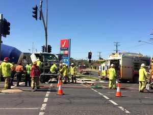 Emergency services respond to Wilsonton crash