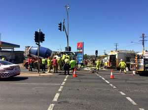 Man in serious condition after Toowoomba truck crash