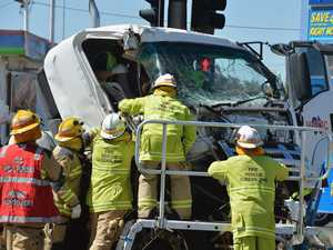 Man critically injured in truck crash remains in hospital