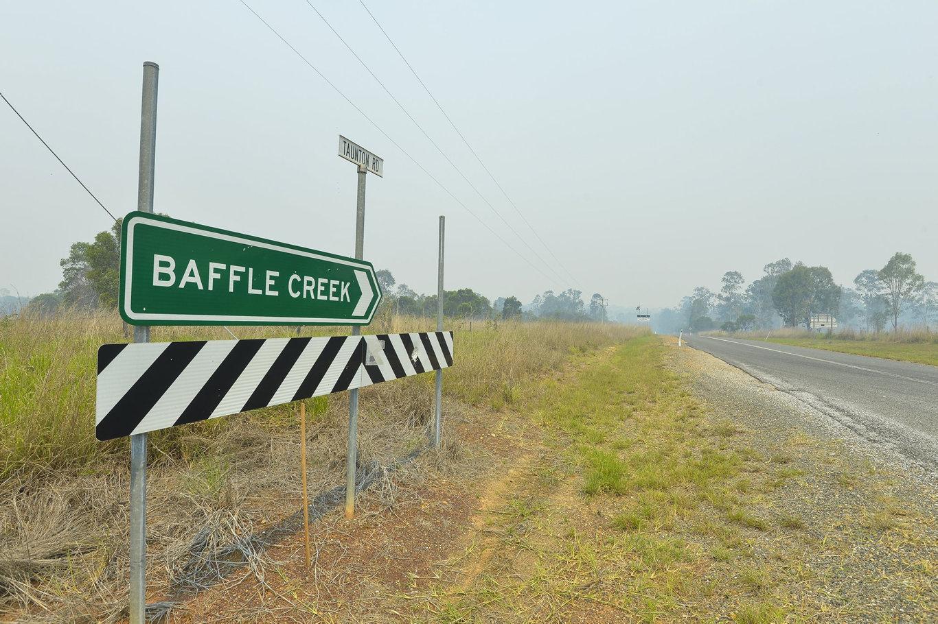 Baffle Creek is now in the firing line of the devastating bushfire.