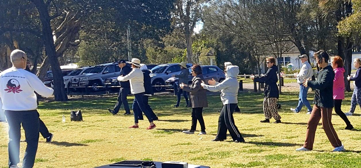 PARK PEACE: David teaches up to 10 Tai Chi sessions per week in parks across the Central Coast.