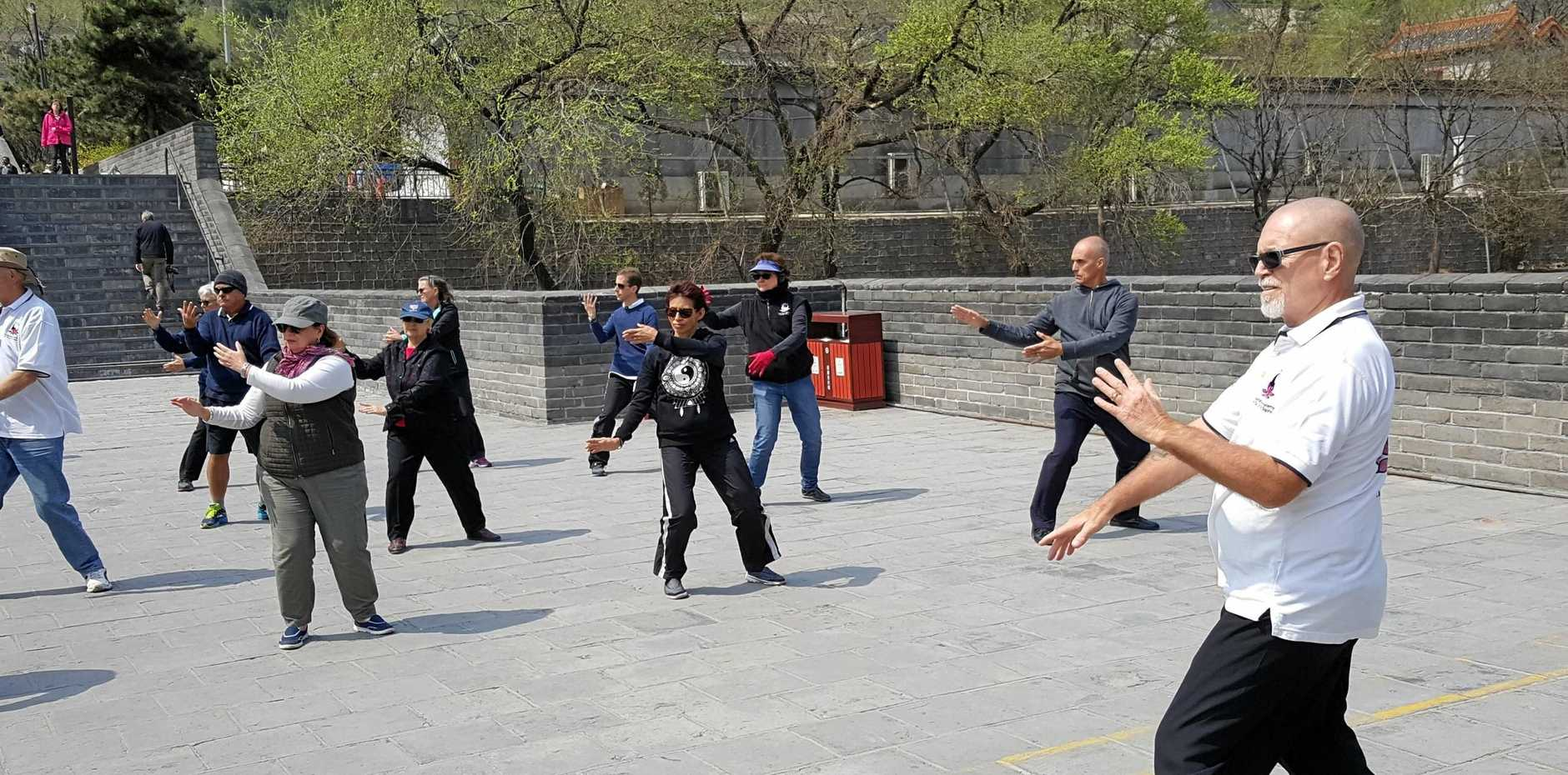 NEW LIFE: David Ross had the opportunity to teach Tai Chi at the Great Wall of China ... another life-changing experience.