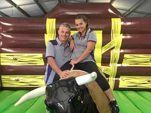 Amusement business bouncing in a fun weekend for all ages
