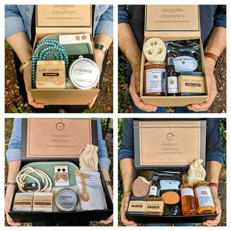 The Christmas hampers are filled with handmade products from around CQ and tailored to suit men or women.