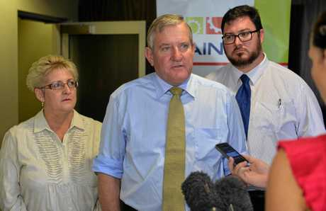 BACKING RESOURCES: Capricornia MP Michelle Landry, QRC CEO Ian McFarlane and Dawson MP George Christensen.