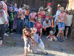 Bucket-full of zombies invades country town