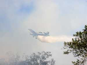 BUSHFIRES: Water bomber on its way from Sydney