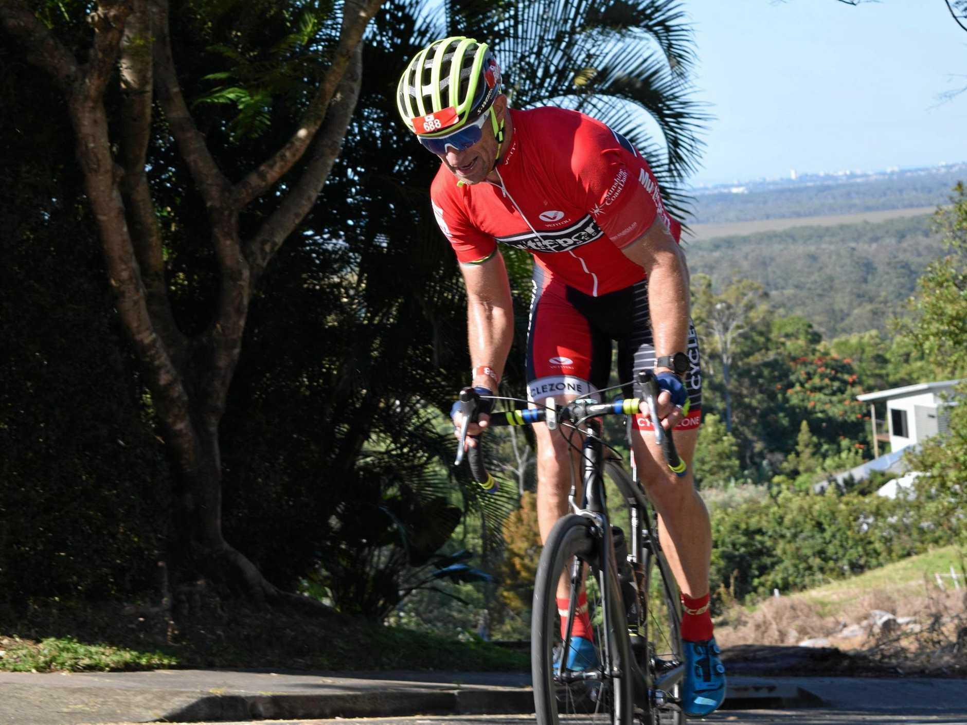 David Chick on day one at Velothon Sunshine Coast.