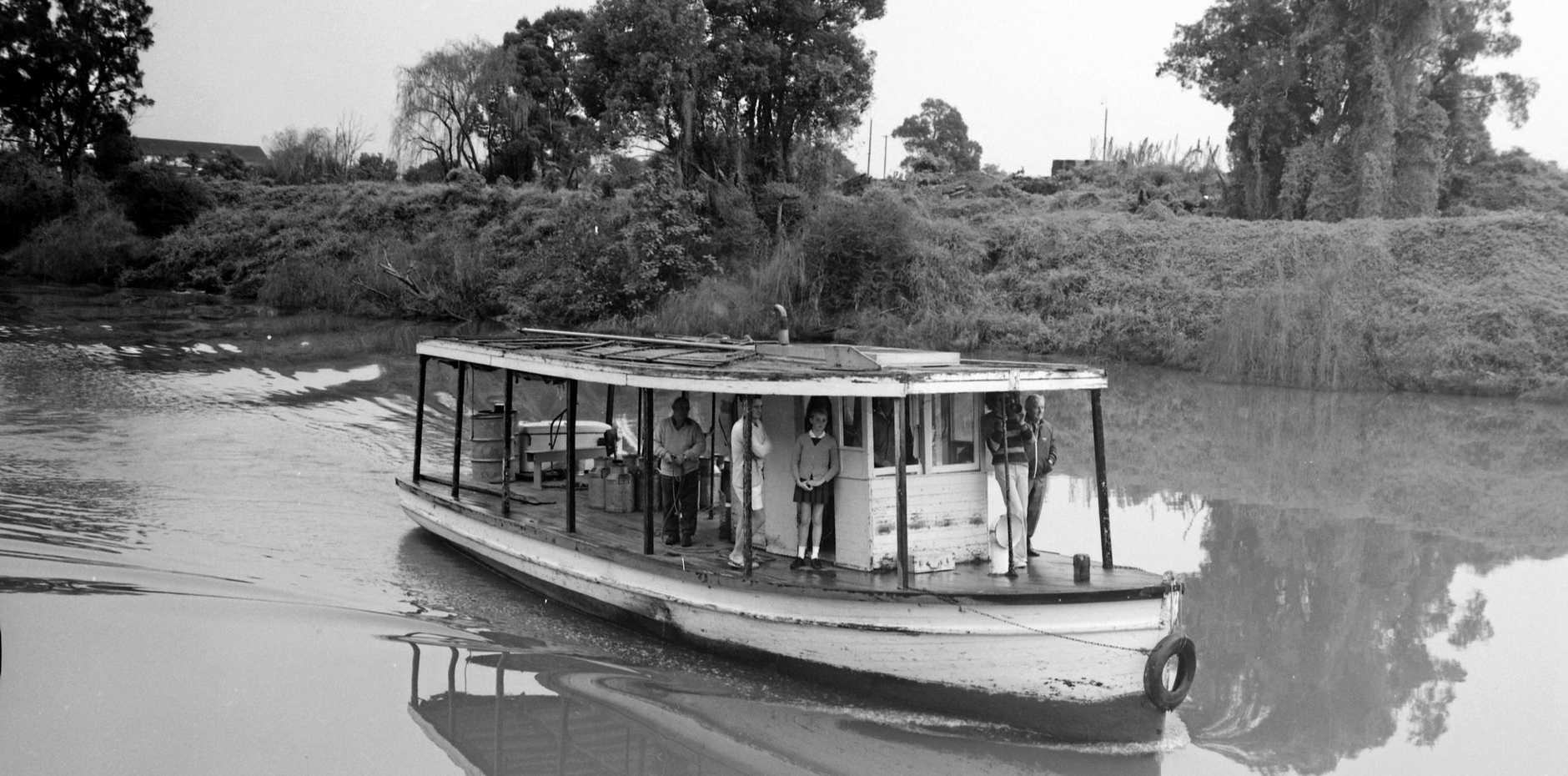 The Coraki to Lismore cream boat, 1973.