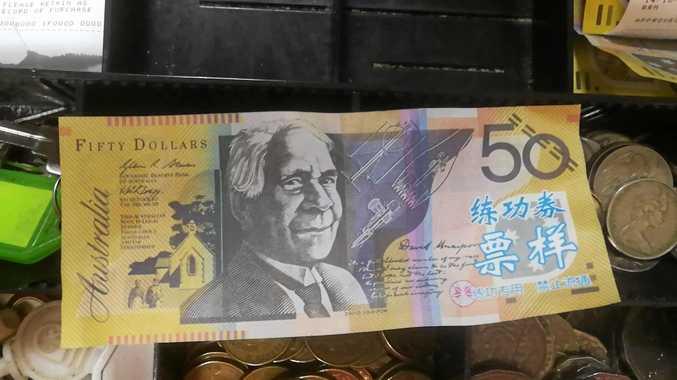 FAKE: An example of the fact bank notes circulating Rockhampton and CQ
