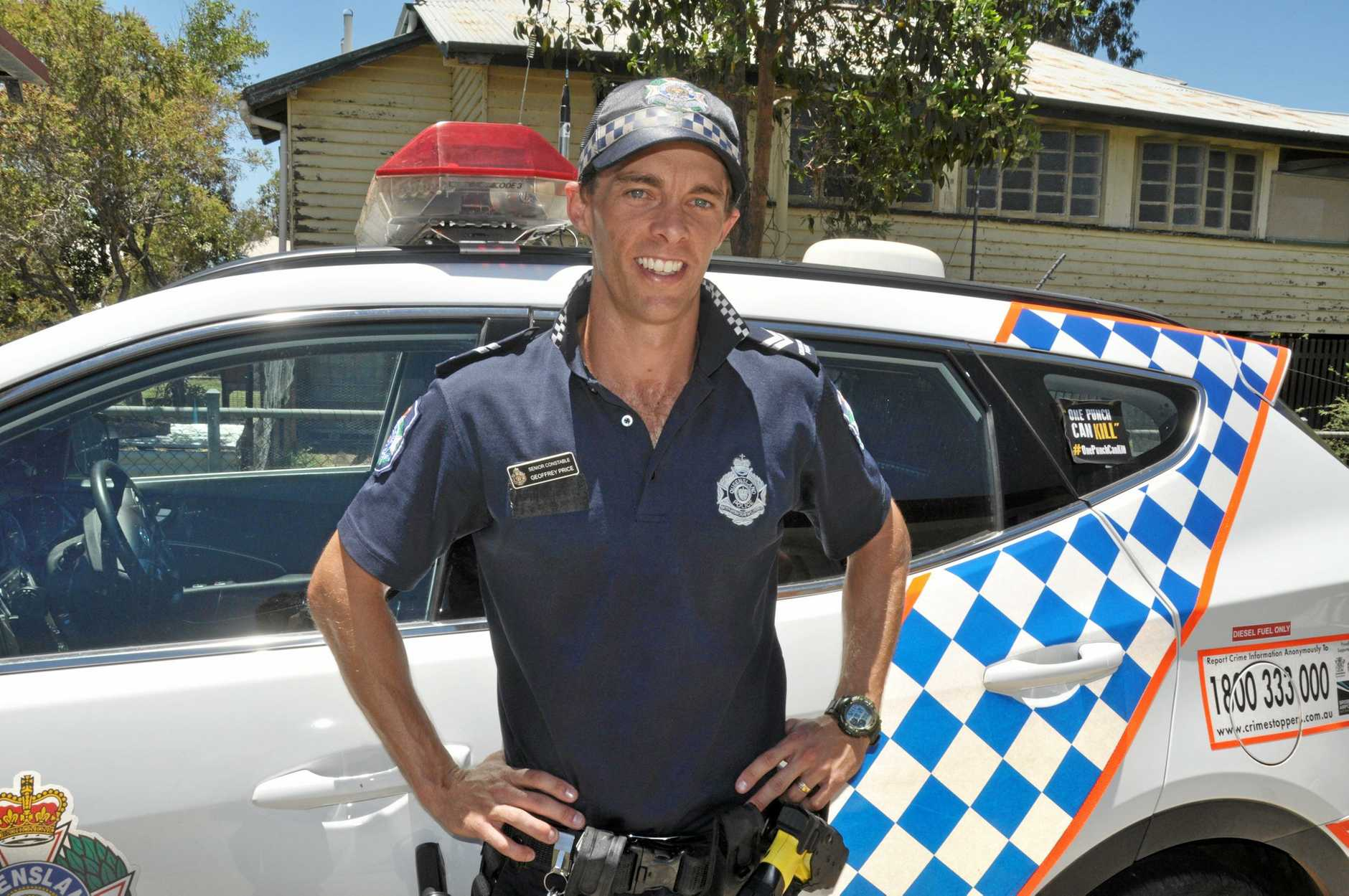 ON THE BEAT: Senior Constable Geoff Price has relocated from the Whitsunday region to becomethe newest member of the Eidsvold Police.