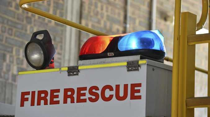 BLAZE: Fire crews are attending to a fire in Glen Aplin.