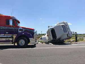 UPDATE: Road closed following truck rollover