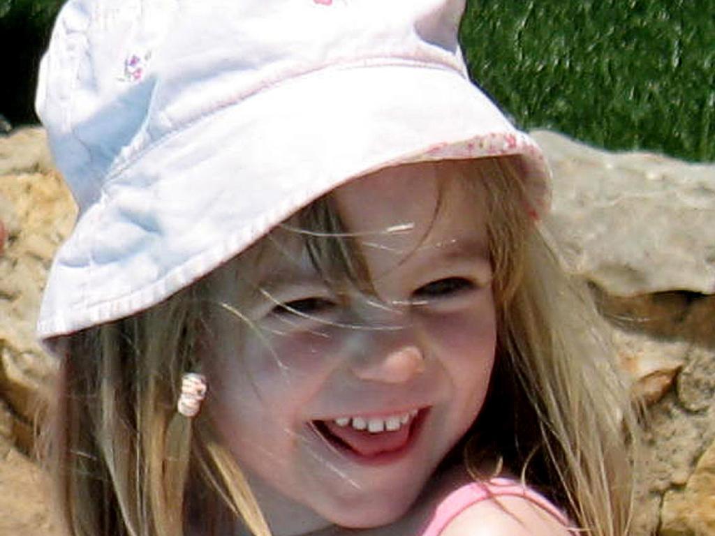 The last photo taken of missing British girl Madeleine McCann at age 3.