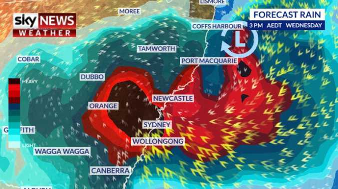 A low could bring heavy rain to large parts of NSW midweek. Picture: Sky News Weather