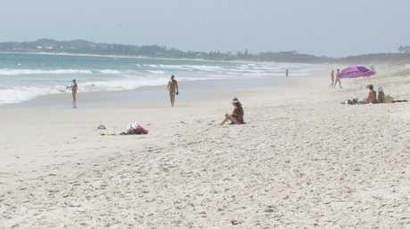 The clothing optional beach at Tyagarah. Pic: Adam Head.