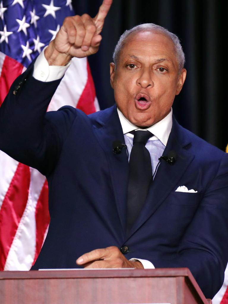 Democrat Mike Espy is fighting to become the state's first black senator since 1870. Picture: AP Photo/Rogelio V. Solis, Pool