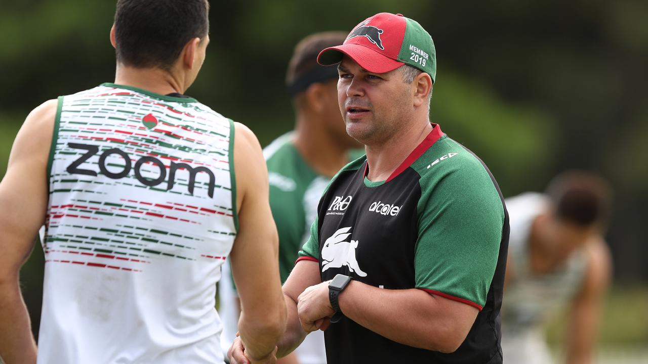 Anthony Seibold continues to coach at South Sydney but for how long? (Brett Costello)