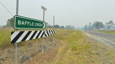 Baffle Creek is now in the firing line of the devastating bushfire.
