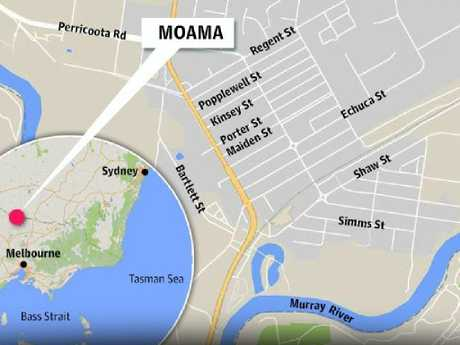 Moama is located in NSW, just above the Victorian border.