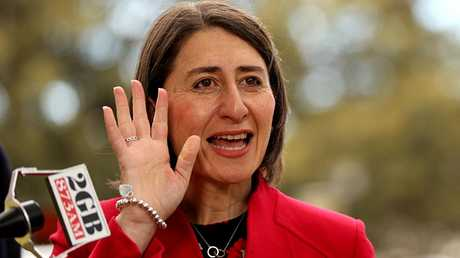 NSW Premier Gladys Berejiklian revealed the full list of schools to be upgraded with airconditioning. Picture: AAP Image/Danny Casey