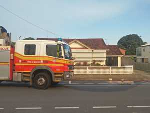 Air-conditioner bursts into flames on roof of Mackay house