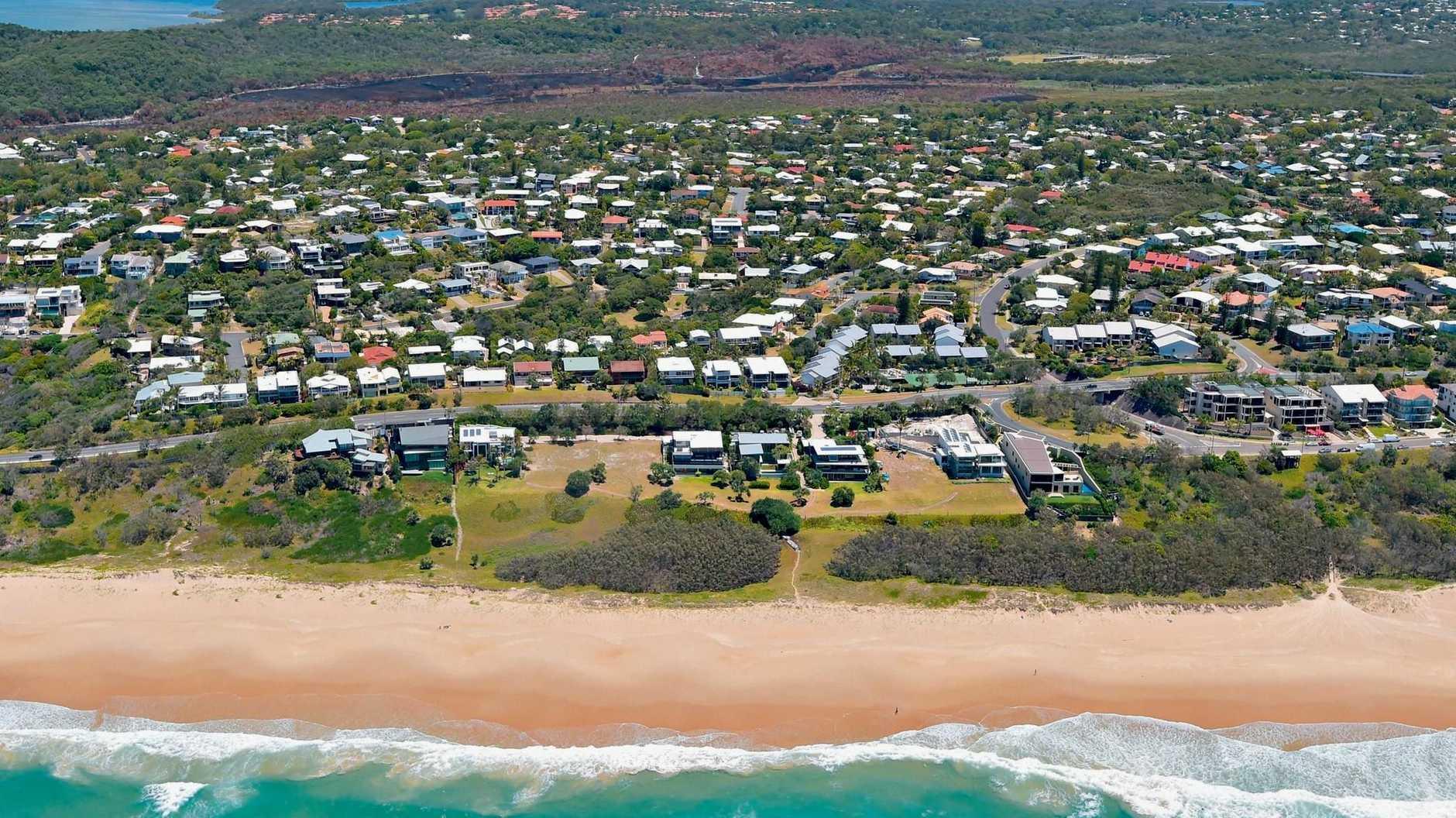Aerial photo of Sunrise Beach, October 2014.