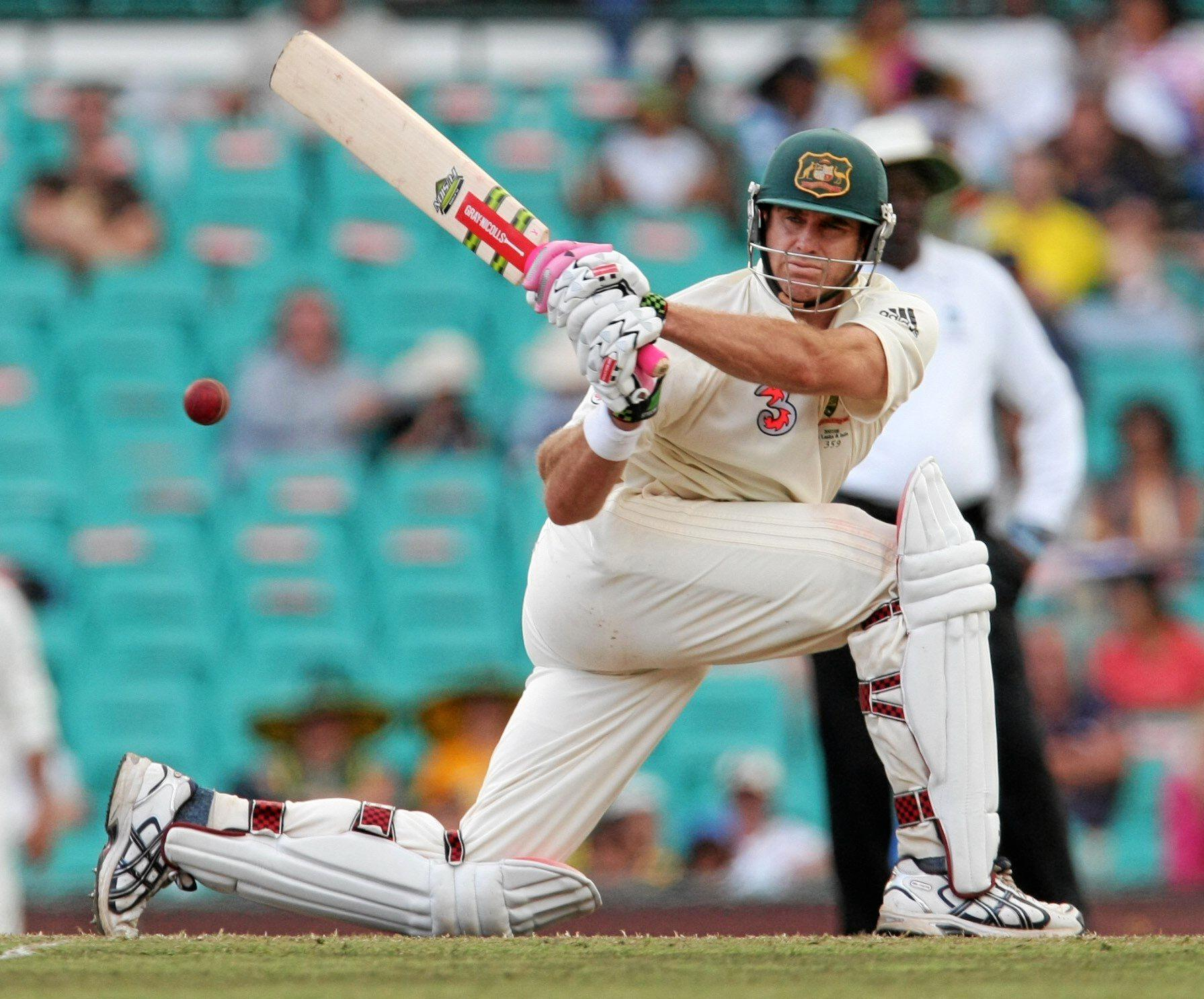 Matthew Hayden in action for Australia.