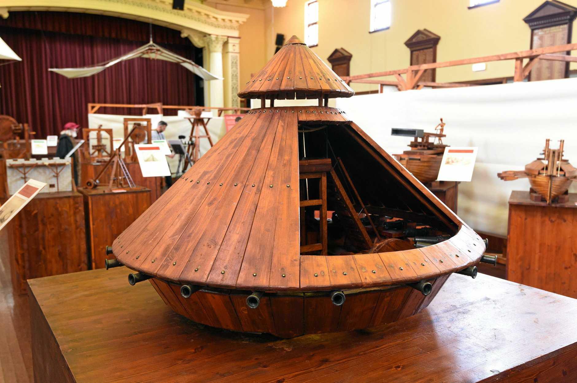Da Vinci Machines exhibition at the Maryborough City Hall.