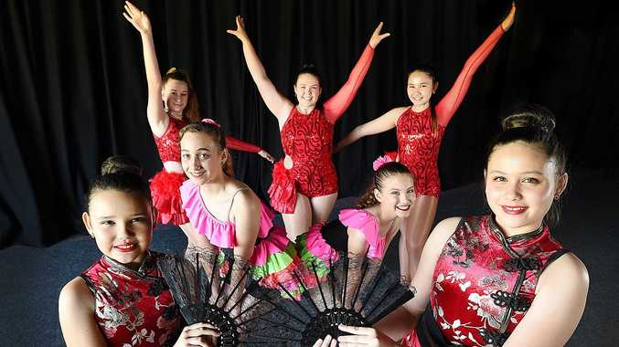 Toni Robinson Dance School pupils (front left) Alyssa Gallagher and Amelia Foot, (middle left) Maddy Avis and Matilda Thompson, (back left) Rhiannon Lynch, Shakira Pearse and Amber Gallagher will perform The World of Dance at their end-of-year concert.