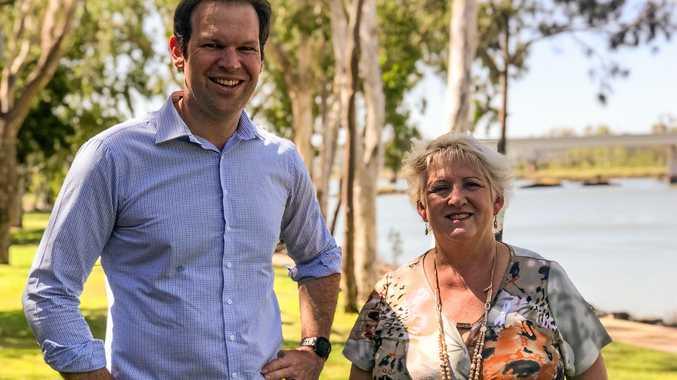 ON THE ATTACK: Minister for Northern Australia Senator Matt Canavan and Capricornia MP Michelle Landry.