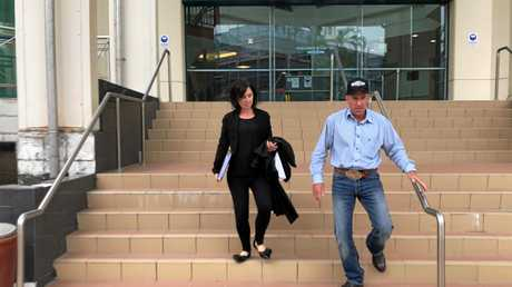 Peter Scott Wallace leaving  court.