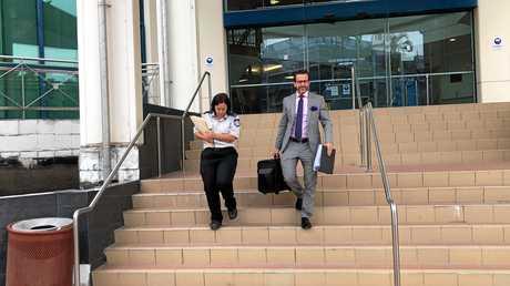 Capricornia RSPCA Inspector Claire Gordon and RSPCA prosecutor Jordan Ahlstrand leaving court.