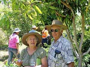 Landcare members taste-test unusual fruits